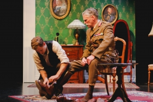 Production Photo of Dedication by Edward Riche. Actors Edward Stapleton and David Ley.