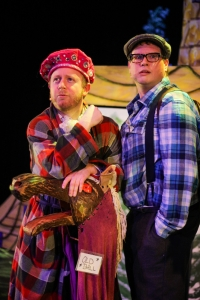 Photo from Production of Tangly: A Hall Family Panto by Rory Lambert, December 2017 at the LSPU Hall. Colin Furlong as the Prince. Rory Lambert as Buttons.